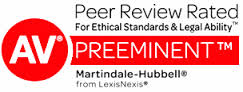 Martindale_Hubbell Preeminent AV Rated